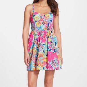 Lilly Pulitzer Floral Print Dress Sz 2 EUC